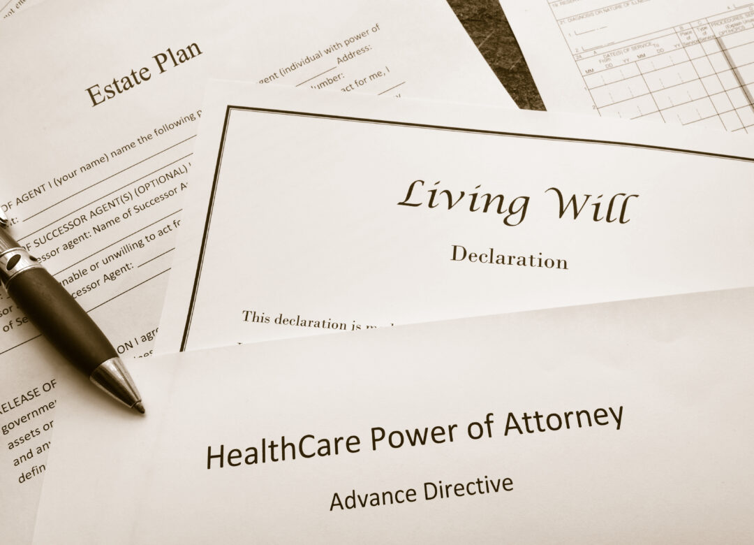Legal and estate planning documents from a probate attorney